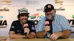 RACER: Fernando Alonso and Marshall Pruett at Daytona